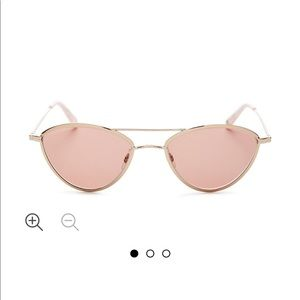Garrett Leight Rose Gold Sunglasses